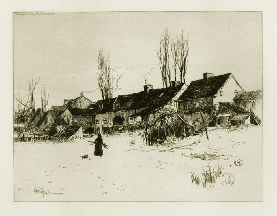A Winter's Day, Windsor, N.S.