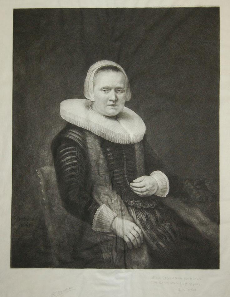Woman with Ruffled Collar