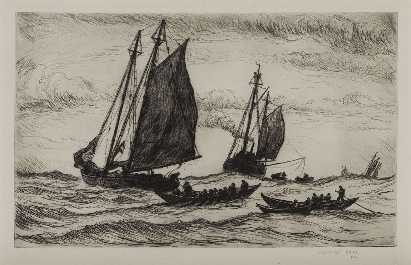 Fishing Boats on the High Seas