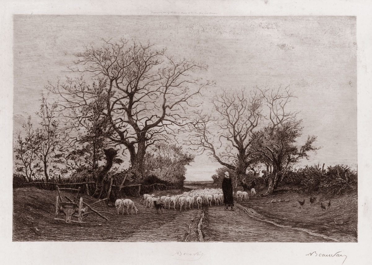 The Shepherdess and Flock