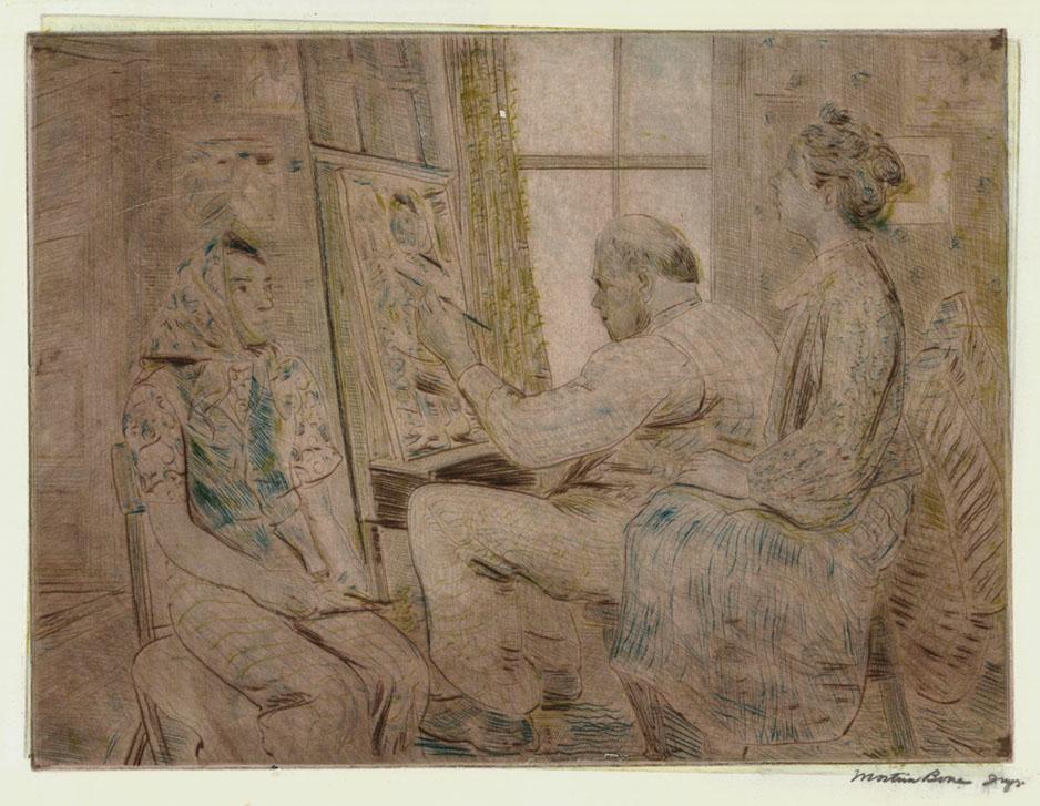 Burliuk in His Studio