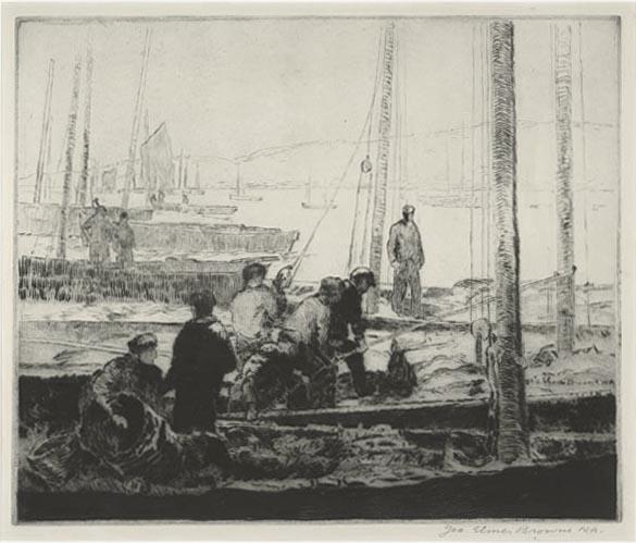 Sardine Fleet At Anchor