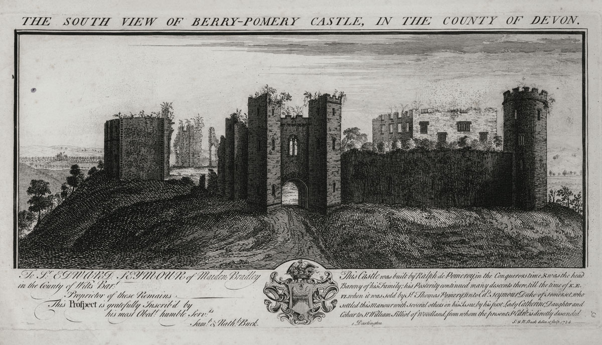 The South View of Berry-Pomery Castle, in the County of Devon