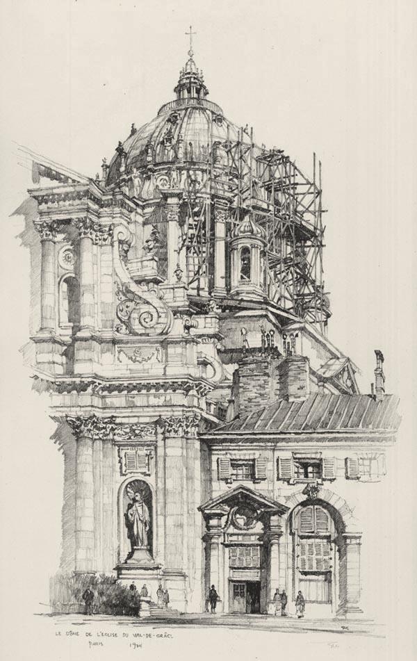 Le Dome de l'Eglise du Val de Grace, Paris