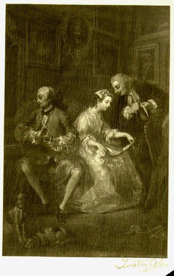 Marriage a la Mode (detail)