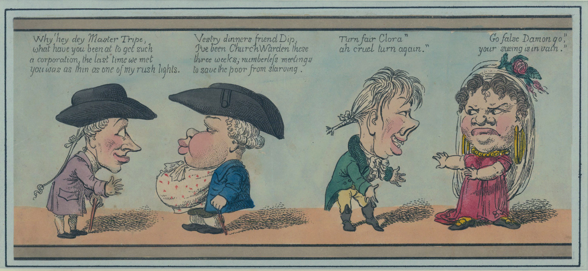 Hand Colored Fragment- London Characters