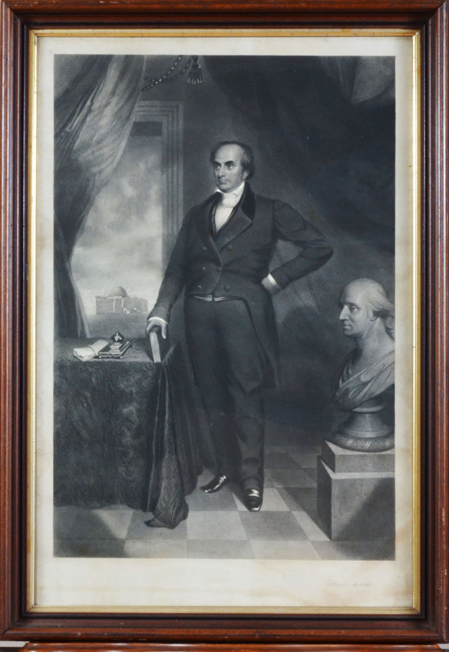 Daniel Webster With Bust of Washington