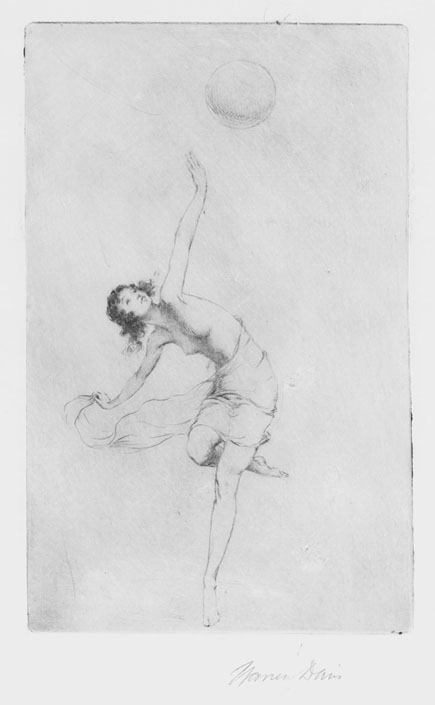 Dancing Woman With Ball