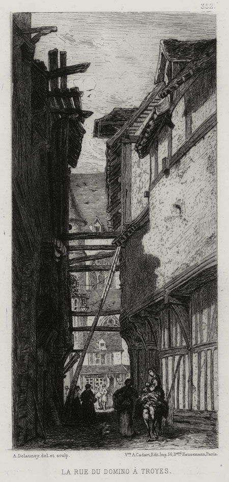 La Rue du Domino a Troyes