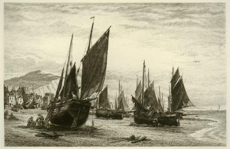 Fishing boats at Hastings