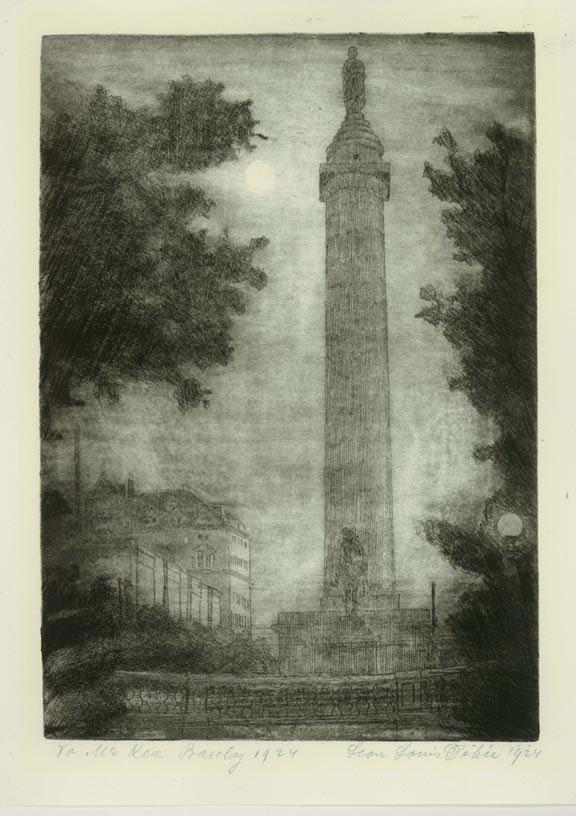 New York Monument at Night