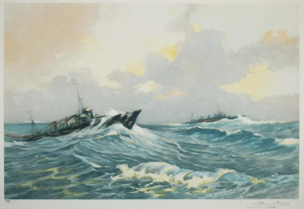 Destroyer Through Heavy Surf