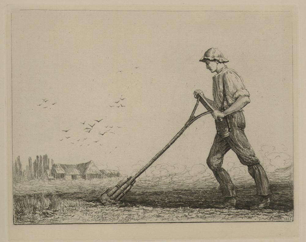 Man With Cultivator