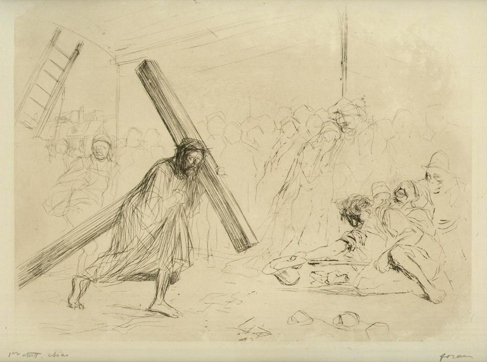 Le Christ portant sa Croix (4e Planche)