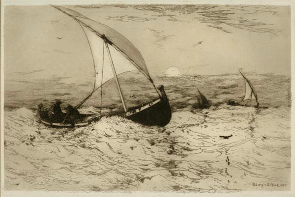 Neapolitan Fishing - Boats Returning Home