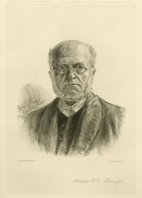 Portrait Of Adolph Menzel