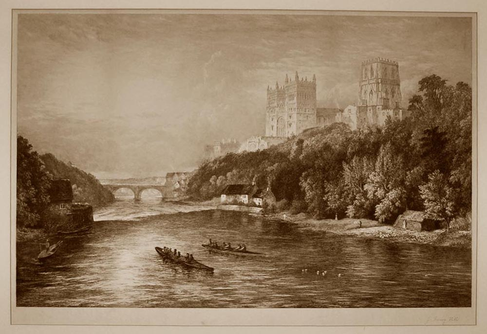 Men Rowing On A British River
