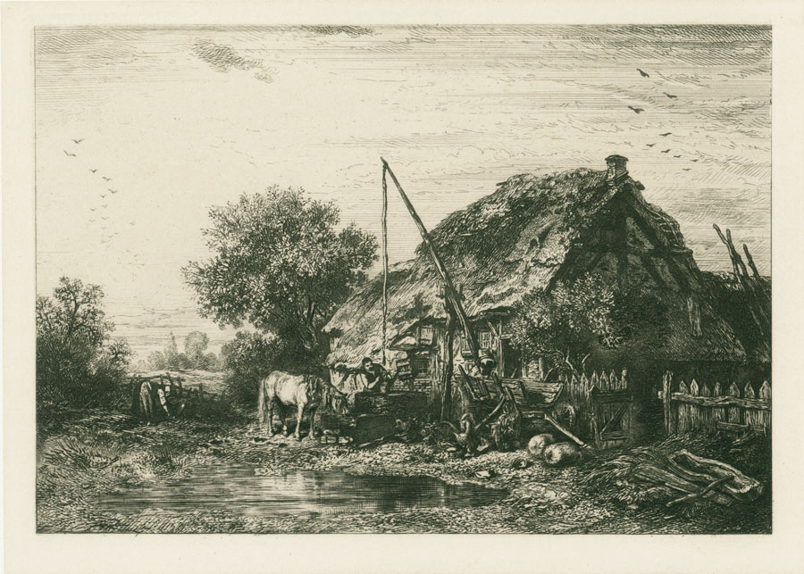 Peasant House With Pond