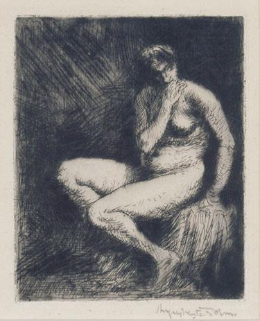 Nude, Seated: Interior