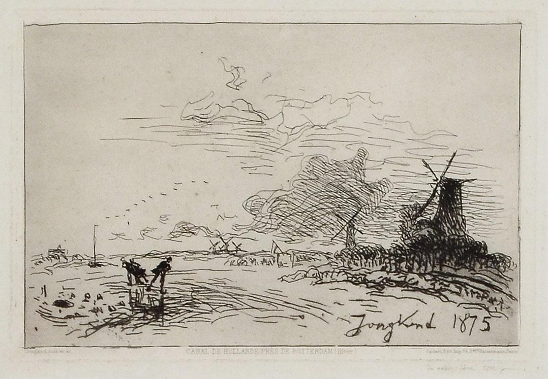 Canal de Hollande Pres De Rotterdam