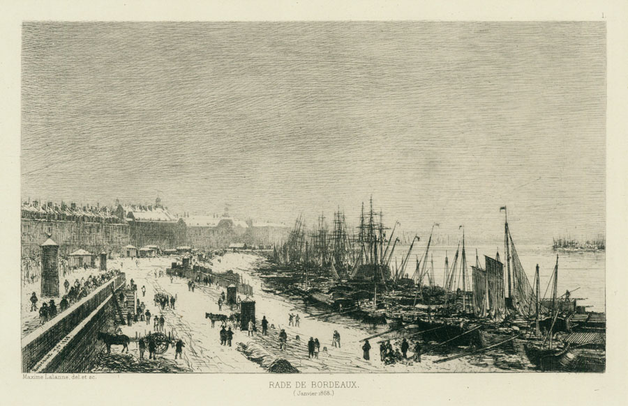 Port of Bordeaux in Winter