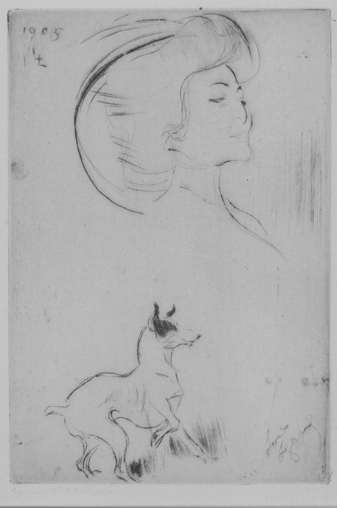 Madame Desrouchier et Son Chien