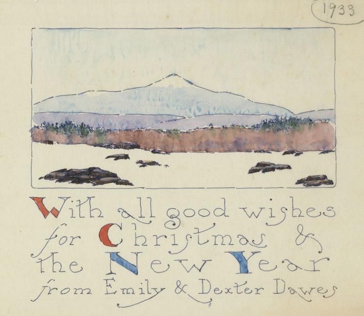 Christmas Card 1933