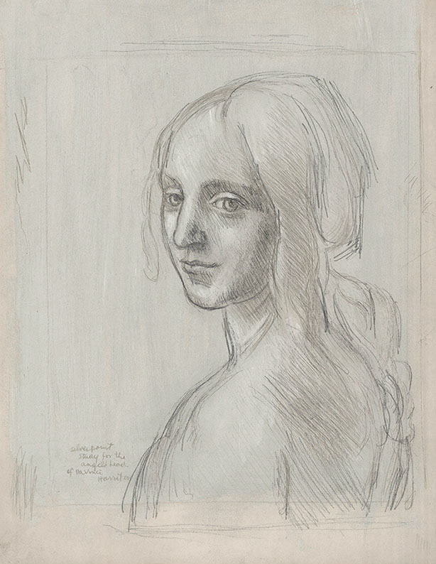 Study for the Angel's Head of DaVinci