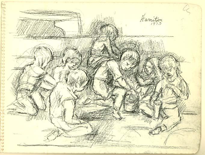 Children in Sandbox, 1973