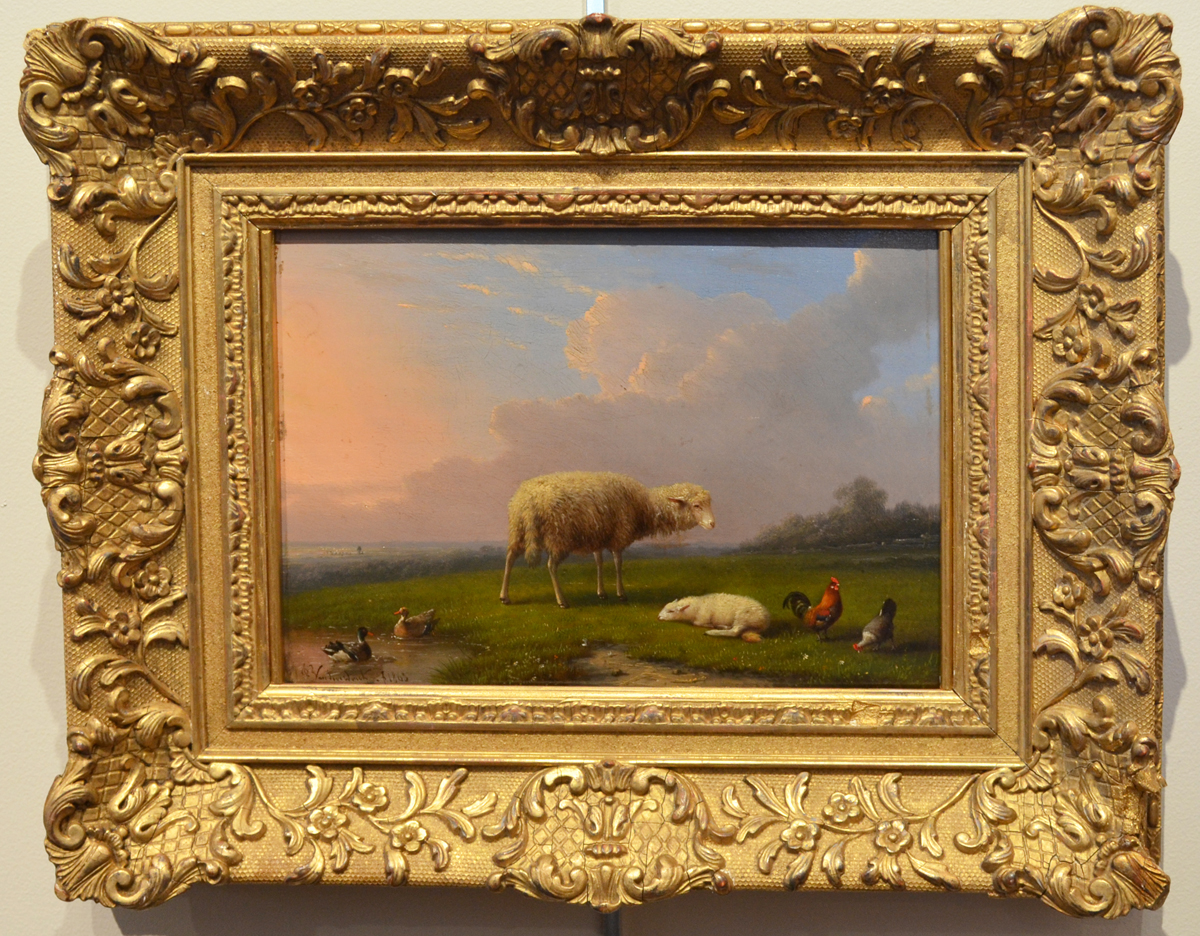 Sheep and Lamb in a Spring Landscape