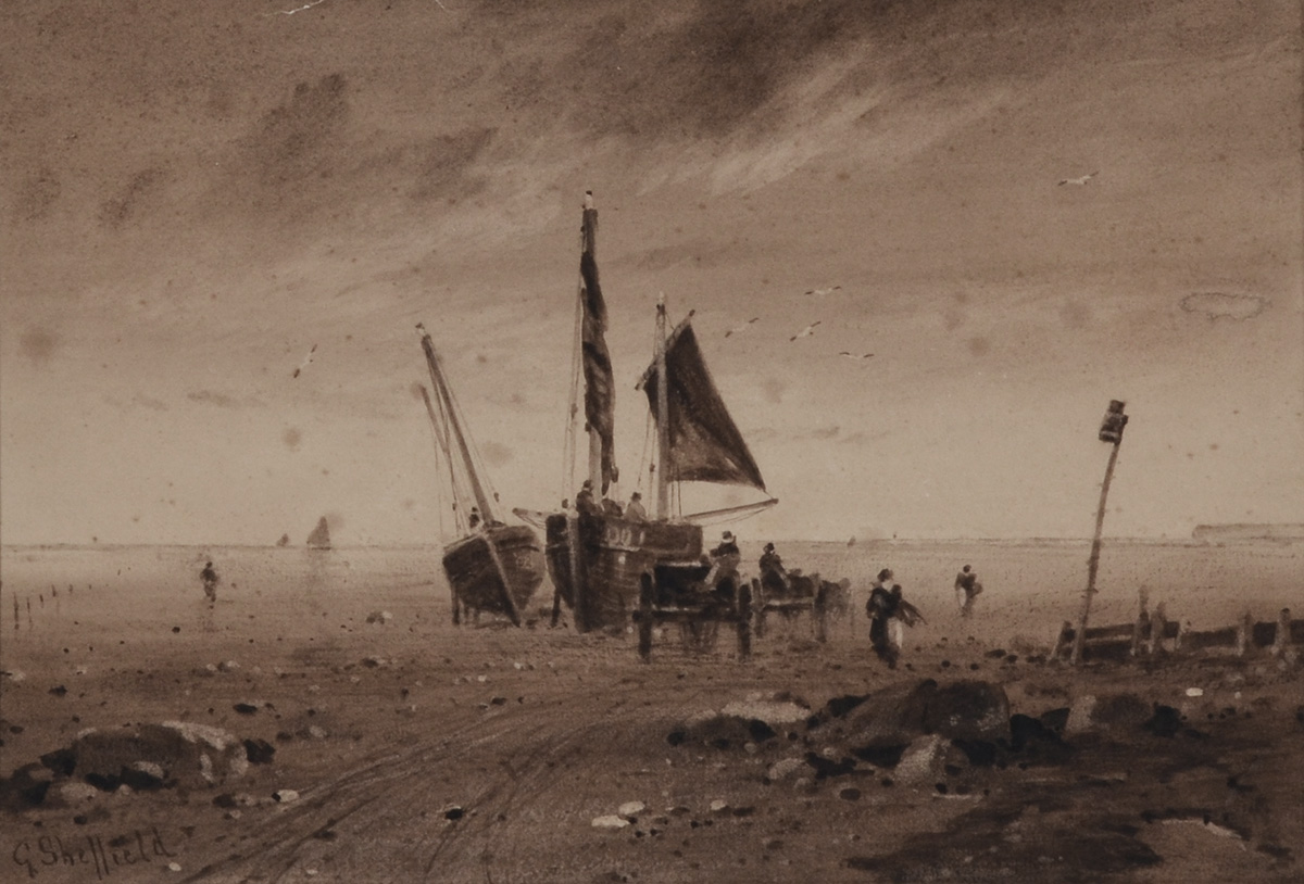 Boats and Wagons on the Beach