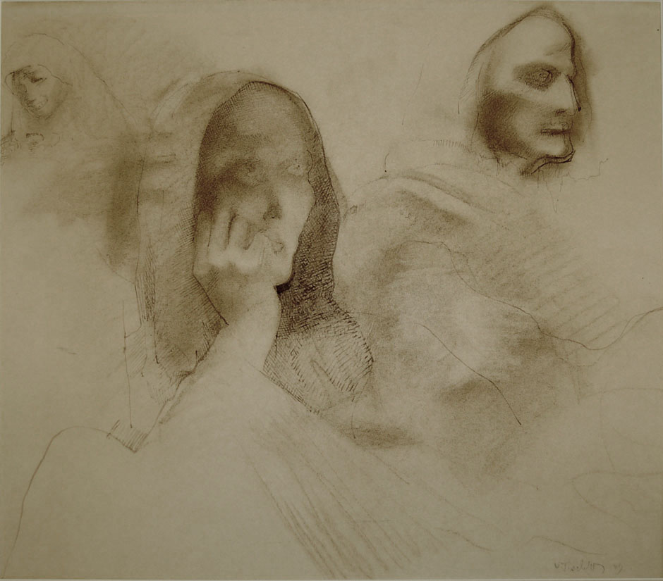 Study of Hooded Figures