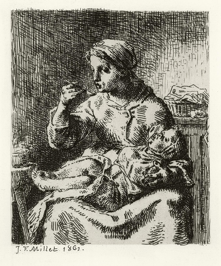 Woman Feeding Her Child