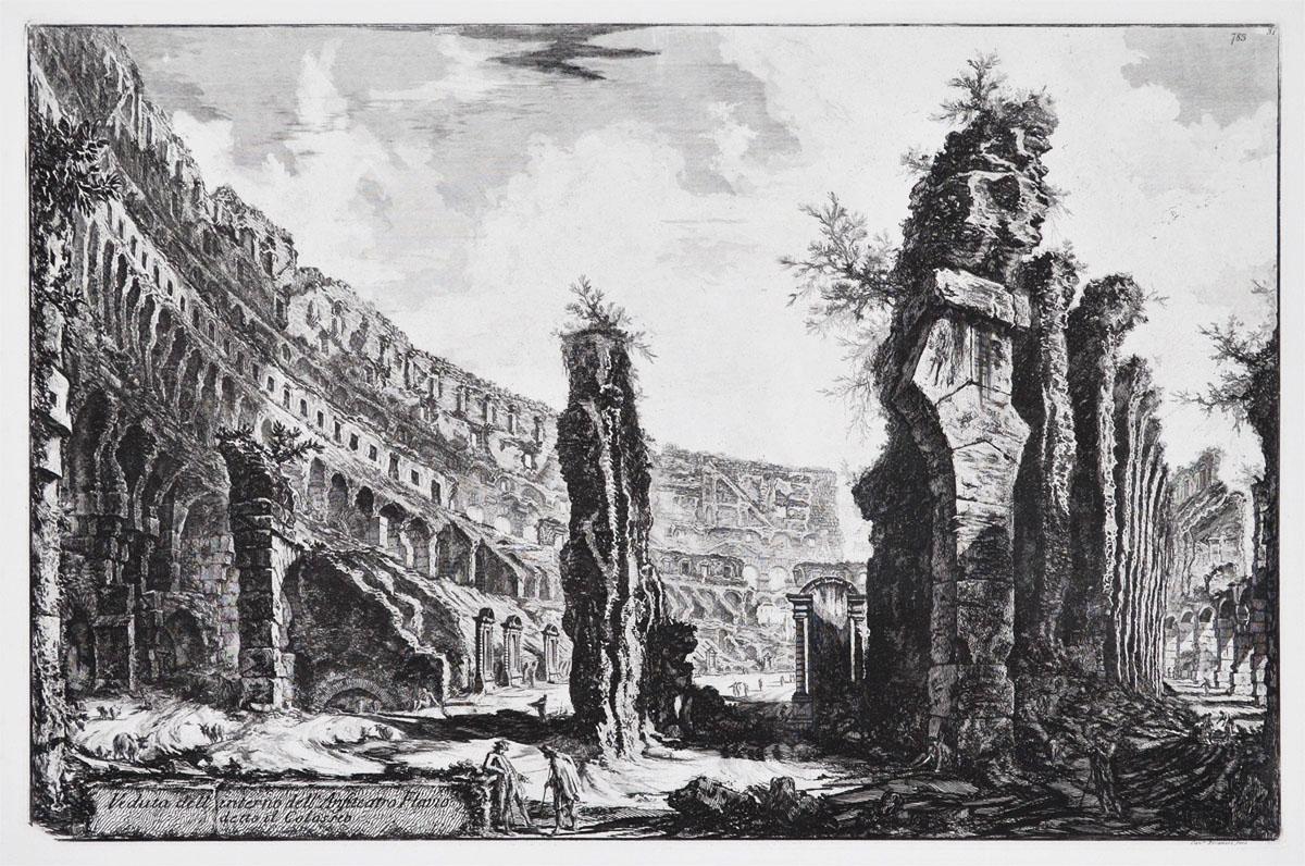 Veduta dell'Intero dell'Anfiteatro Flavio detto il Colosseo