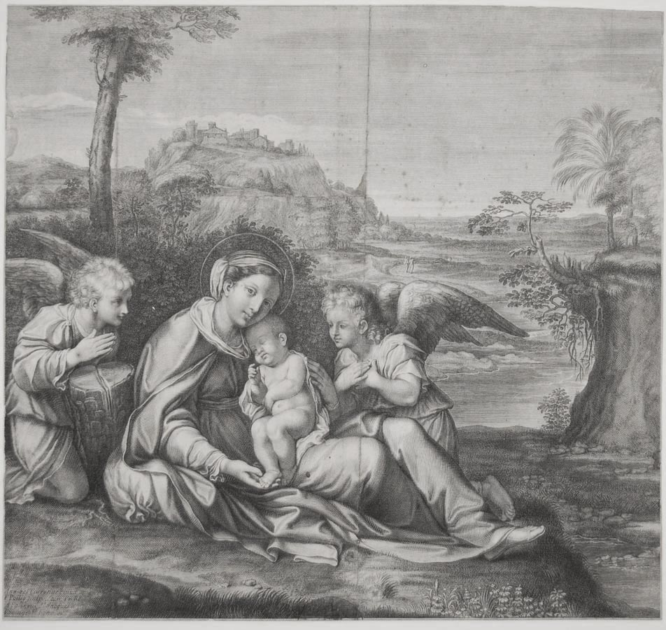 The Virgin and Child Adored by Two Angels