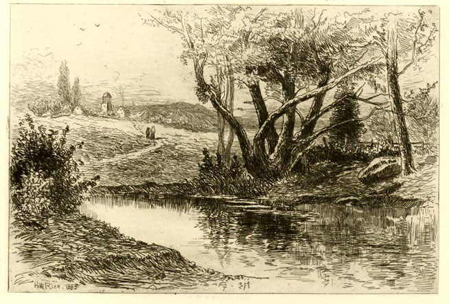 Pond And Village