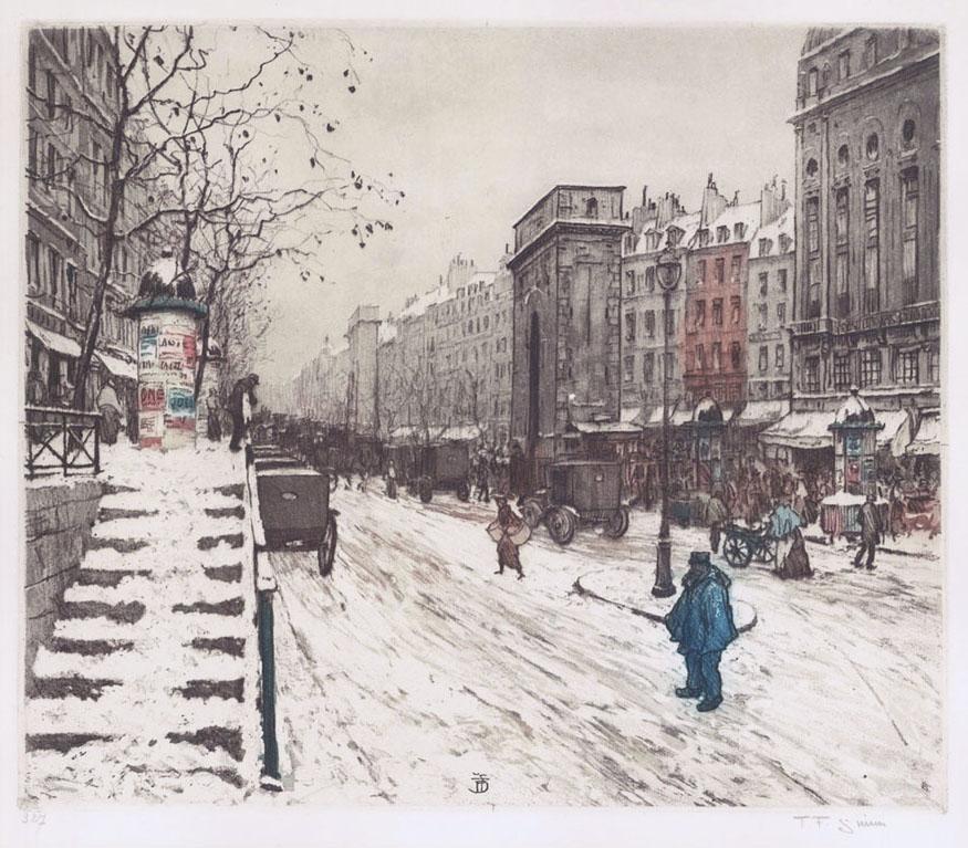 Boulevard Saint Martin in Winter