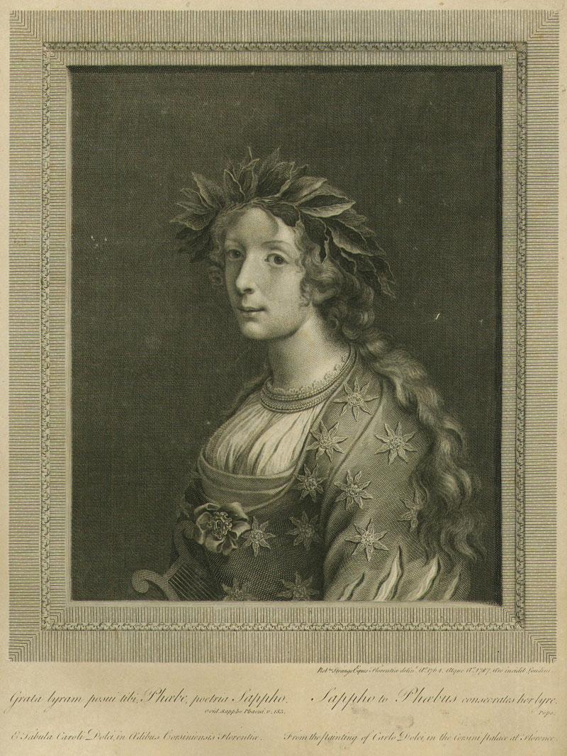 Sappho to Phaebus Consecrates Her Lyre