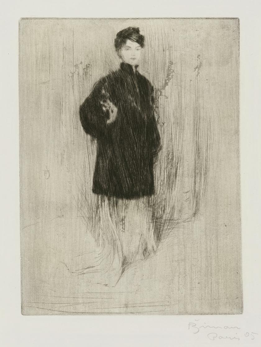 A Lady Dressed in a Fur Coat