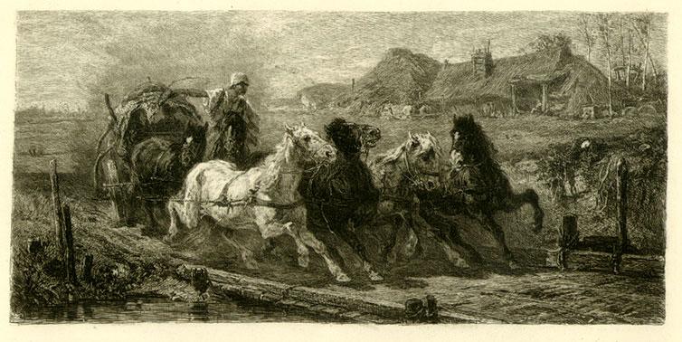 Runaway Horse Cart