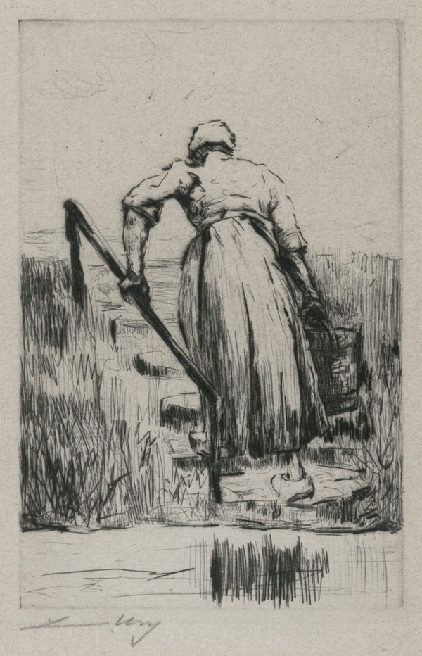 Dutch Woman Fetching Water
