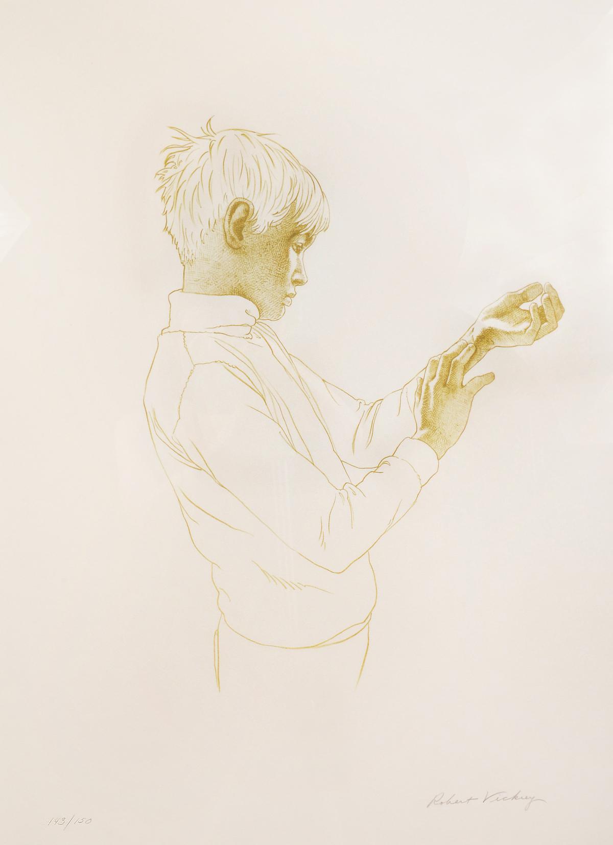 Boy Examining Wrist