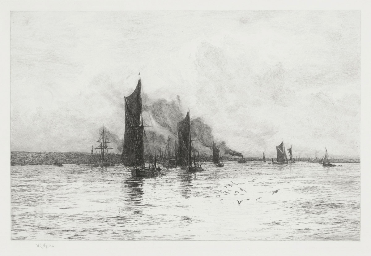 Departure of the Fishing Boats