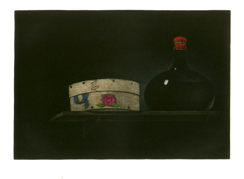 Stillife with bottle and bentwood